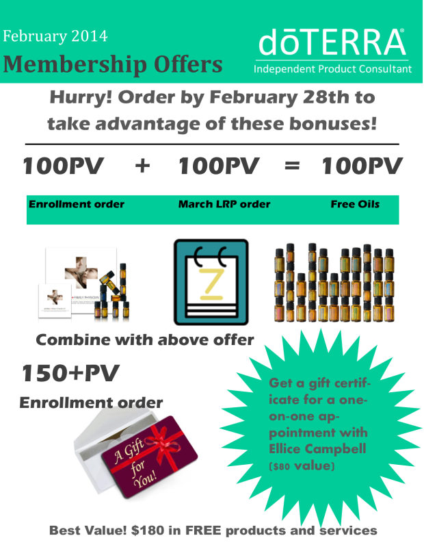 doterra february incentives aqua