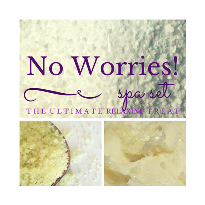 No Worries! Spa Set, Relaxing Bath set added to my Etsy shop!