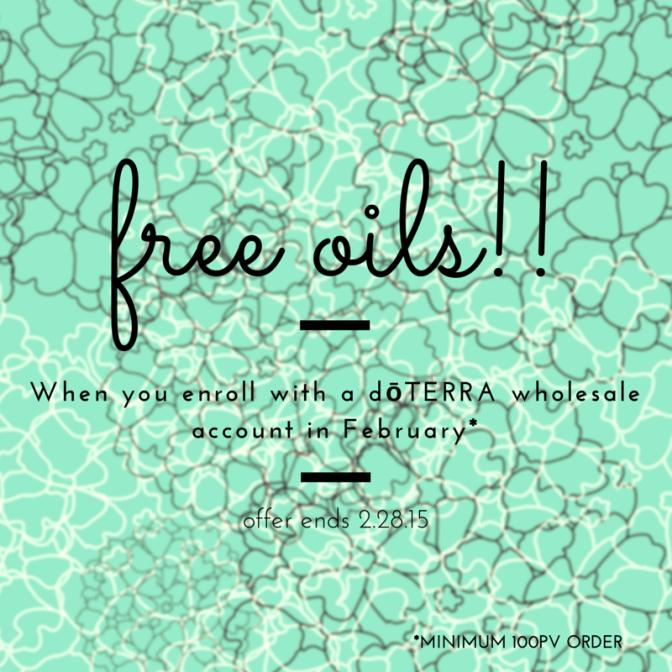 Fabulous February dōTERRA Promotion: Free Essential Oils