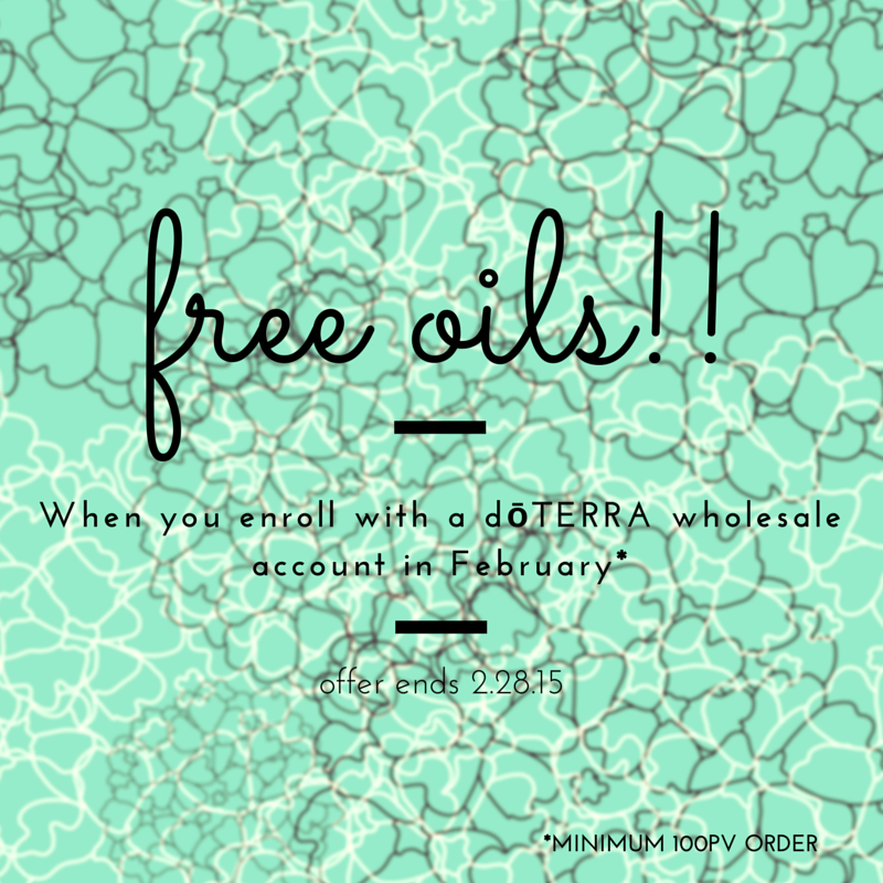 get FREE oils during the Fabulous February Promotion